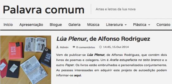 "<span class=""entry-title-primary"">Lúa Plenur en Palavra Comum</span> <span class=""entry-subtitle"">Entrevista, 15-10-2014</span>"